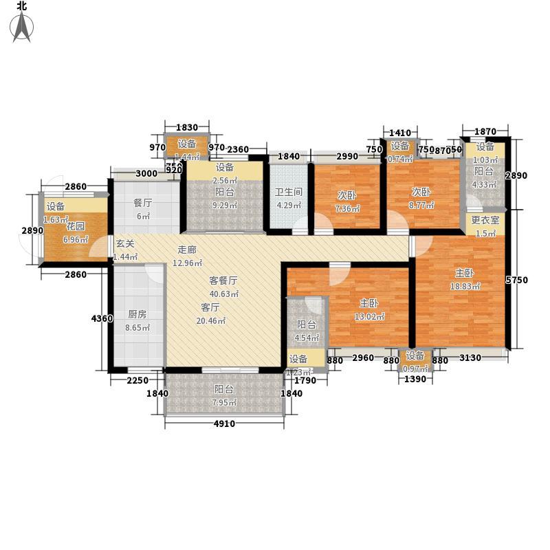 达美D6区144.62㎡户型4室2厅