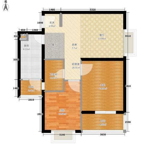 佳龙・大沃城2室0厅1卫1厨78.00㎡户型图