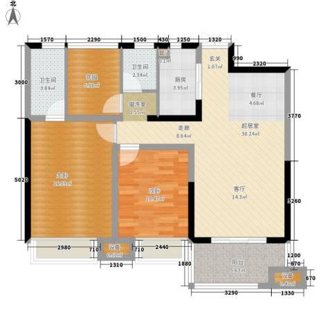 正荣财富中心2室0厅2卫1厨112.00㎡户型图