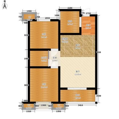 蓝天林语2室0厅1卫1厨89.00㎡户型图