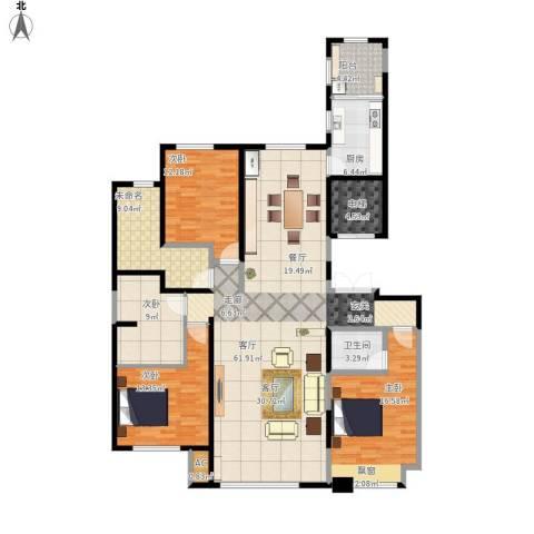 中海外滩4室1厅1卫1厨177.00㎡户型图
