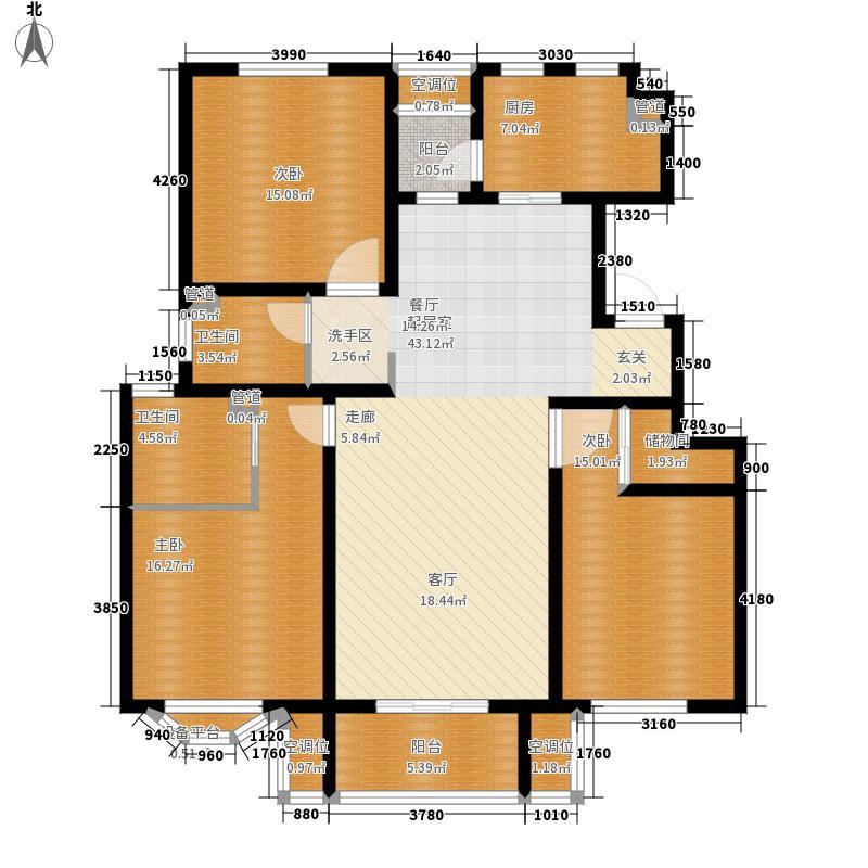 君悦花苑136.97㎡一期洋房标准层A1户型