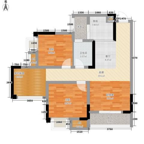 仁安龙城国际三期2室0厅1卫1厨68.00㎡户型图
