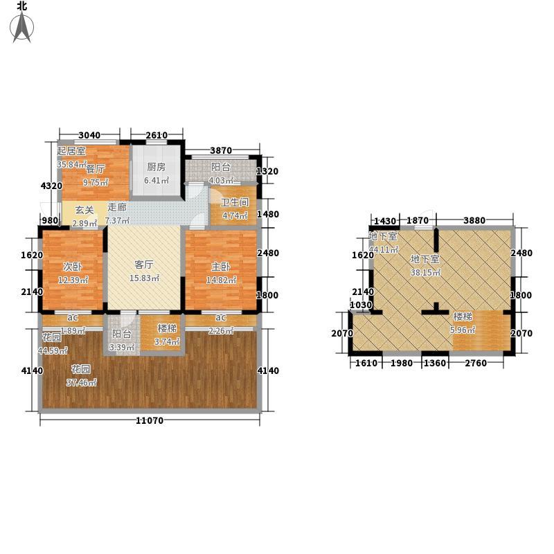 东方丽都88.79㎡1#2#楼一层D2-1面积8879m户型