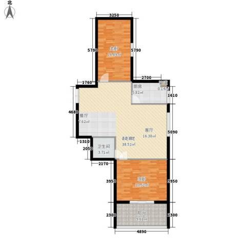 万丰碧云豪庭2室0厅1卫1厨106.00㎡户型图