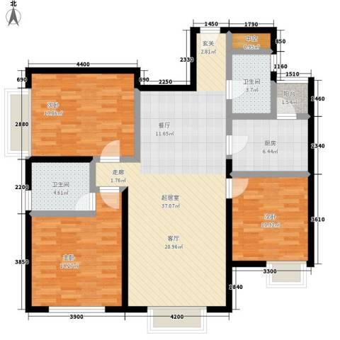 复兴之门3室0厅2卫1厨131.00㎡户型图