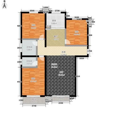博鑫翰城3室0厅2卫1厨139.00㎡户型图