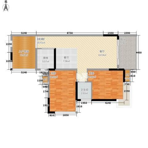 国土局宿舍2室0厅1卫1厨120.00㎡户型图