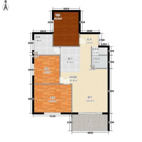 万丰碧云豪庭3室0厅1卫1厨126.00㎡户型图