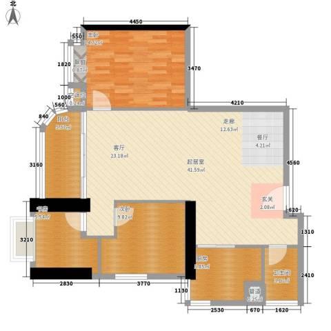 麓湖御景3室0厅1卫1厨99.00㎡户型图