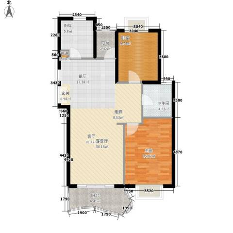 芳草轩1室1厅1卫1厨92.00㎡户型图