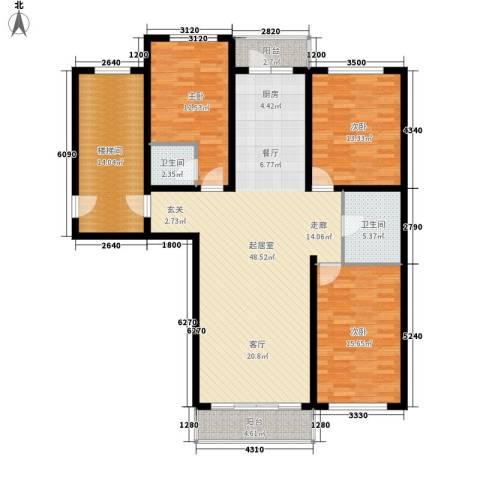意达花园3室0厅2卫0厨134.00㎡户型图
