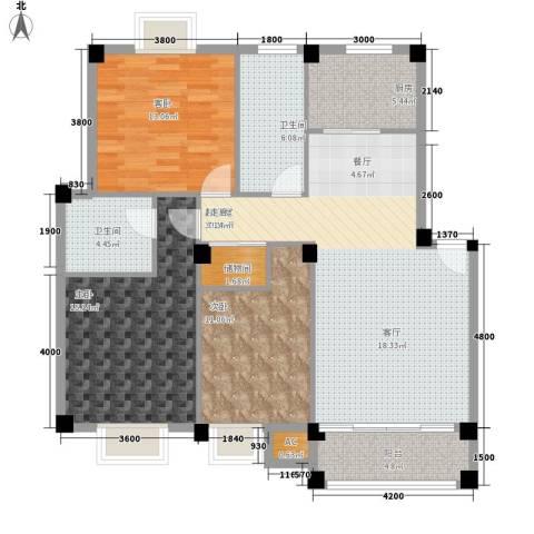 天邻风景3室0厅2卫1厨105.00㎡户型图