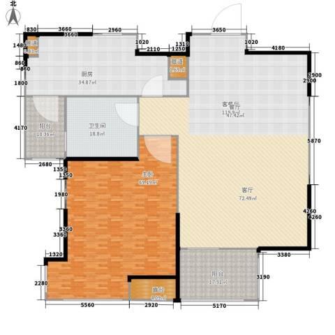 仲宫财富广场1室1厅1卫1厨292.00㎡户型图