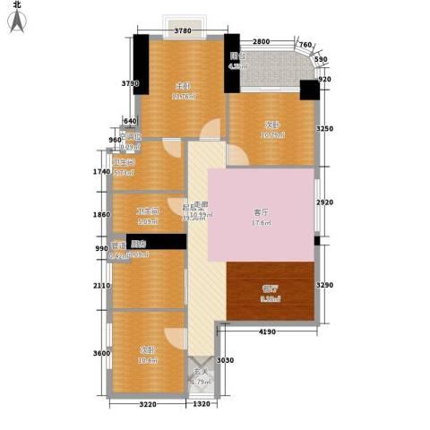 麓湖御景3室0厅2卫1厨112.00㎡户型图