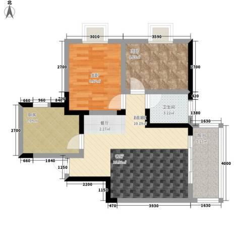 东大街小区2室0厅1卫1厨131.00㎡户型图