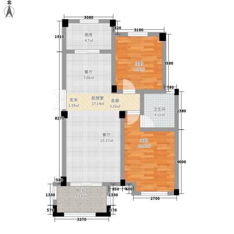 冠城晶典2室0厅1卫1厨92.00㎡户型图