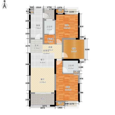 正荣财富中心2室0厅2卫1厨117.00㎡户型图