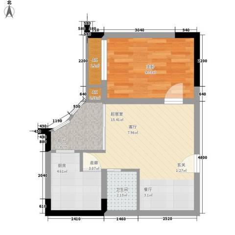 春江名都1室0厅1卫1厨40.00㎡户型图