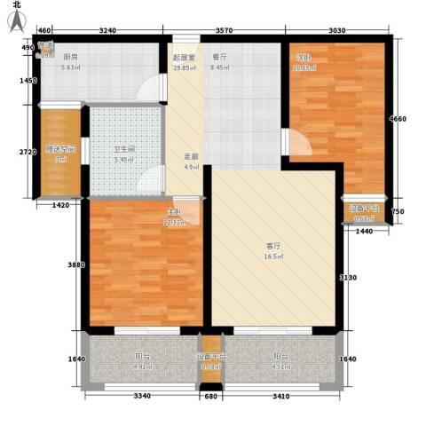 米兰浅山郡2室0厅1卫1厨90.00㎡户型图