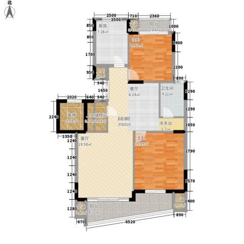 中央花园2室0厅1卫1厨131.00㎡户型图