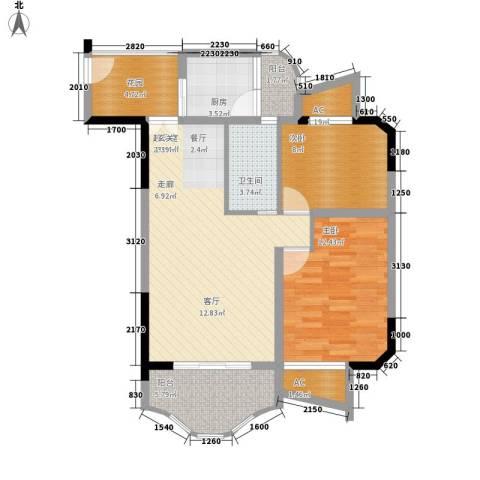 春江名都2室0厅1卫1厨67.00㎡户型图
