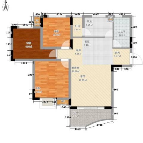 石韵桂园3室0厅1卫1厨120.00㎡户型图