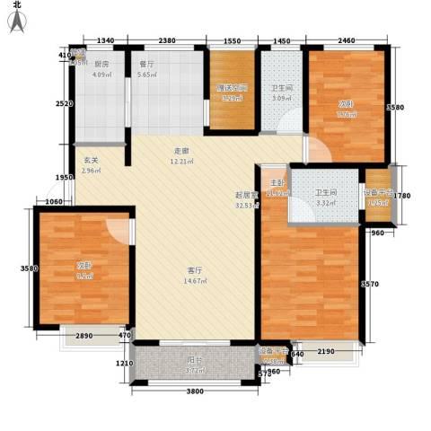 米兰浅山郡3室0厅2卫1厨92.00㎡户型图