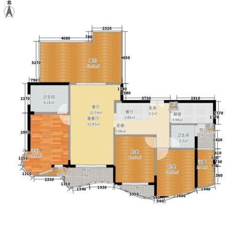 芳草轩1室1厅2卫1厨128.00㎡户型图
