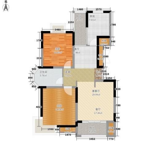 博威・江南明珠苑2室1厅1卫1厨119.00㎡户型图