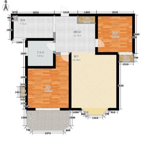 上城公馆2室0厅1卫1厨122.00㎡户型图