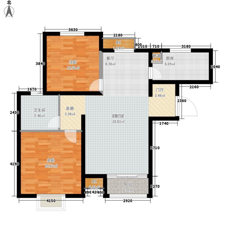 塞纳世家92.06㎡一期高层标准层B户型