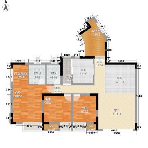 北城阳光今典3室1厅2卫1厨118.67㎡户型图