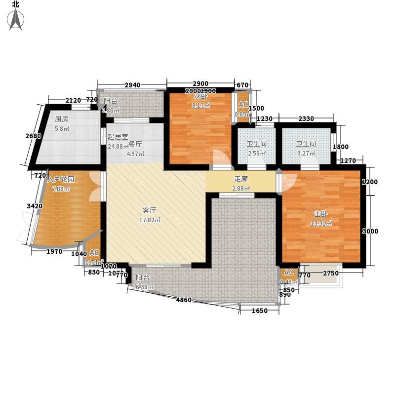 一品南庭99.90㎡5号房户型2室2厅2卫
