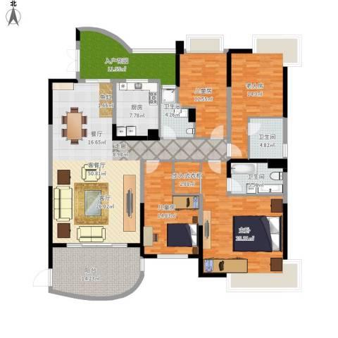 广州碧桂园城市花园4室1厅3卫1厨238.00㎡户型图