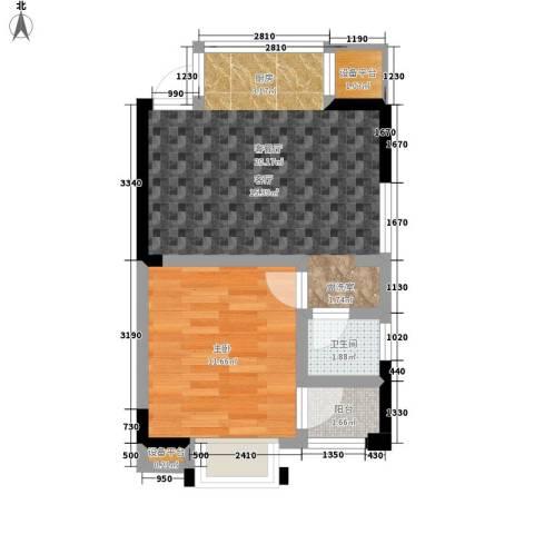 长沙嘉华城1室1厅1卫0厨49.00㎡户型图