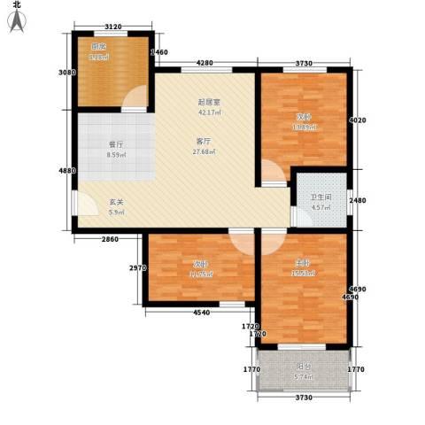 中和盛景3室0厅1卫1厨115.00㎡户型图