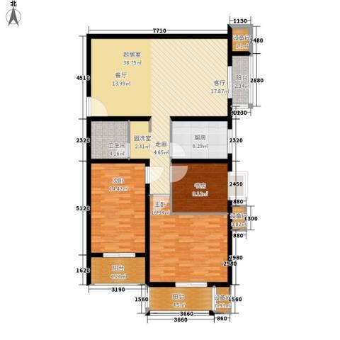 百合小筑3室0厅1卫1厨118.00㎡户型图