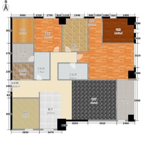 天幕阔景4室0厅2卫1厨246.00㎡户型图