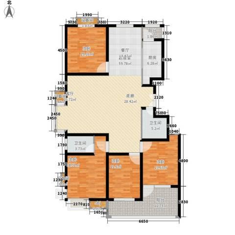 百合小筑4室0厅2卫1厨169.00㎡户型图