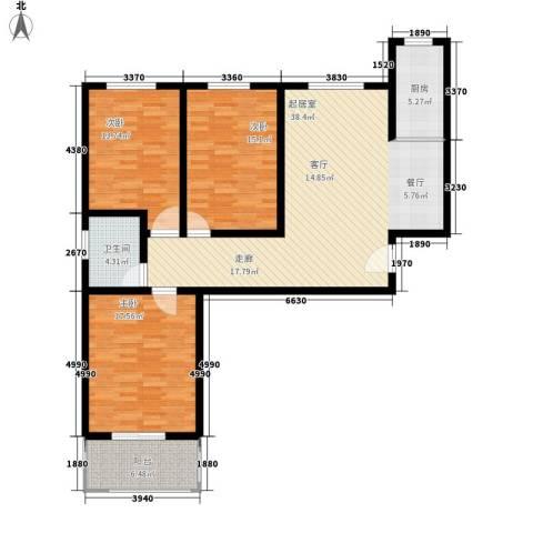 中和盛景3室0厅1卫1厨114.00㎡户型图