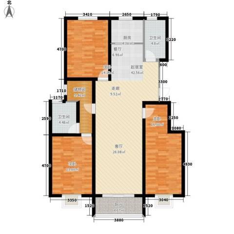 中和盛景3室0厅2卫1厨148.00㎡户型图