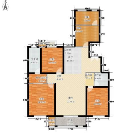 百合小筑4室0厅2卫1厨160.00㎡户型图