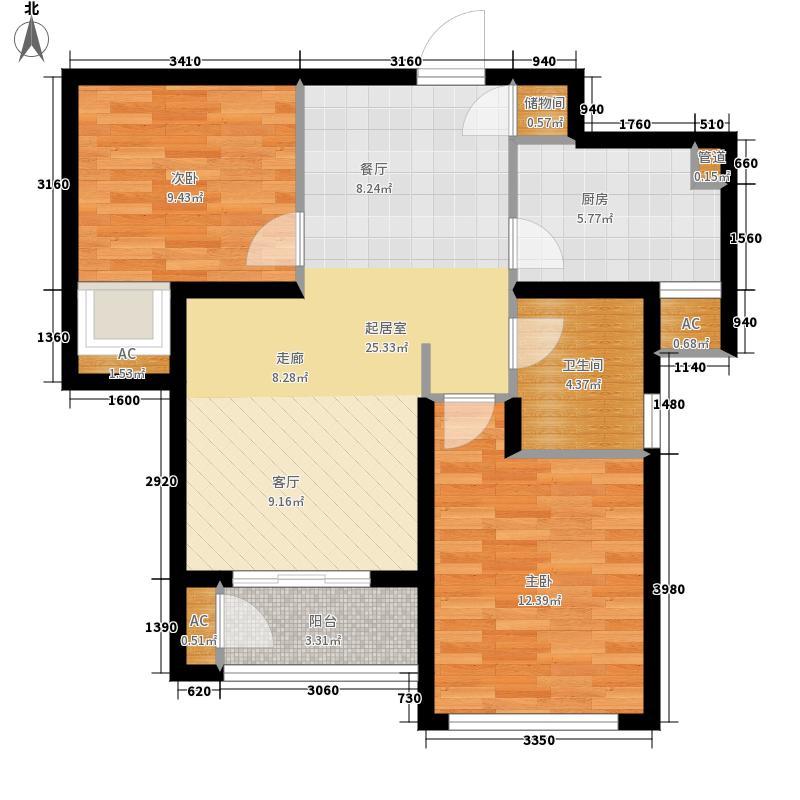 东壹区90.00㎡高层4号楼标准层C4户型
