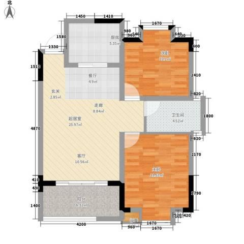 西源鑫大厦2室0厅1卫1厨93.00㎡户型图