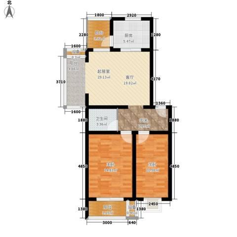 新新家园2室0厅1卫1厨85.00㎡户型图
