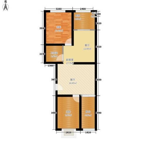 新新家园2室0厅1卫1厨84.00㎡户型图