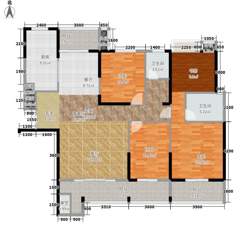 远志新外滩四房两厅两卫户型