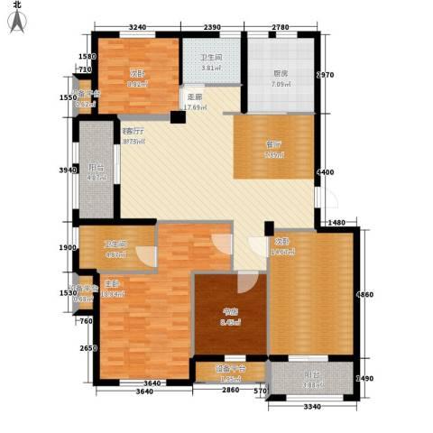 金世纪铭城华庭4室1厅2卫1厨125.00㎡户型图
