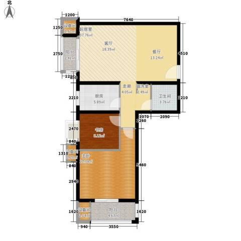 百合小筑2室0厅1卫1厨95.00㎡户型图